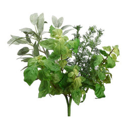 Silk Plants Direct - Silk Plants Direct Herb Bush (Pack of 6) - Silk Plants Direct specializes in manufacturing, design and supply of the most life-like, premium quality artificial plants, trees, flowers, arrangements, topiaries and containers for home, office and commercial use. Our Herb Bush includes the following: