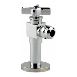 Renovators Supply - Angle Stop Valves Chrome Toilet Angle Stop Valve 1/2 FIPv1/2 OD - Chrome Angle Stop Valve, 1/2 FIPx1/2 OD for Toilets. Chrome-plated brass, superior quality at low prices.