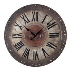 Sterling Industries - Sterling Industries 128-1005 Metal Roman Numeral Outdoor Wall Clock - Clock (1)