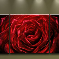 Matthew's Art Gallery - Metal Wall Art Abstract Modern  Sculpture Flower Red Rose - Name: Red Rose