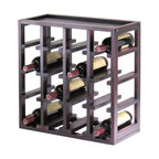 Winsome Wood - Kingston Collection Solid Wood Wine Rack w Es - The contemporary design of this stylish wine rack will make it a fashionable and functional addition to your decor. It features a slot design that will hold up to 16 wine bottles, and is constructed of solid wood in espresso finish. It can be used alone or stacked with other coordinating racks for an expanded wine cellar. Made of solid wood. Holds 16 wine bottles. Only stores 0.75L bottles. Espresso finish. Some assembly required. 9.92 in. W x 20.47 in. L x 20.47 in. H