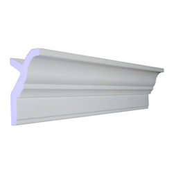 "CCM - 64 Ft Of 3.5"" Style 1  Foam Crown Molding 8' W / Precut Corners - THIS IS A KIT - 64 feet of crown molding. 95.5"" lengths."