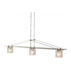 "LBL Lighting - LBL Lighting Baybridge chandelier - 3 light - Products description: The 3 light Baybridge Chandelier from LBL Lighting is designed by LBL Lighting and made in the USA. The Baybridge Chandelier is made for domestic and commercial use. This fixture has frosted Italian glass and a field-cuttable adjustable stem. This fixture is available with a black or satin nickel finish.   Products description: The 3 light Baybridge Chandelier from LBL Lighting is designed by LBL Lighting and made in the USA. The Baybridge Chandelier is made for domestic and commercial use. This fixture has frosted Italian glass and a field-cuttable adjustable stem. This fixture is available with a black or satin nickel finish.                                      Manufacturer:                                      LBL Lighting                                                     Designer:                                      LBL Lighting                                                     Made  in:                                     USA                                                     Dimensions:                                      Height: 49"" (124.5cm) X Width: 39"" (99.1cm)                                                     Light bulb:                                      3 X 50W GU5.3 MR16 12V                                                     Material                                      Metal, Italian glass"