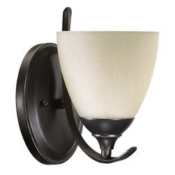Quorum International - Quorum International 5508-1-95 Powell Old World Wall Sconce - Quorum International 5508-1-95 Powell Black Wall Sconce