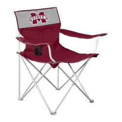 Logo Chair, Mississippi State Canvas Chair - Your pre-game meal might taste a little better if you are sitting on a foldable chair sporting your favorite team's logo.