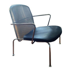 B&B Italia Maxalto Antonio Citterio Web Chair - Chrome, leather, and perforated metal... Bingo!! This B&B Italia Maxalto Leather and Chrome Web lounge chair by Antoniao Citterio is drop-dead perfect. Place it as an accent chair in your living room. Perfectly hip and masculine.