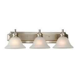 Design House - Design House 510263 Bristol Traditional / Classic 3 Light Down Lighting Bathroom - Design House Bristol 3 Light Vanity LightThe Bristol Collection Is Easy Transitional Styling in a Satin Nickel Finish.