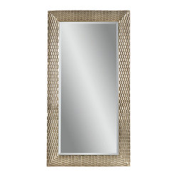Bassett Mirror - Silver Rectangle Floor Mirror - Silver Finish - Rectangle Leaner. Measures: 43 in. W x 80 in. H. Weight: 64 lbs