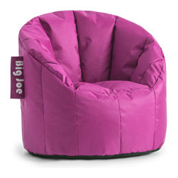 Comfort Research - Comfort Research Big Joe Kids Lumin // Pink Passion SmartMax - Every child enjoys a seat of their own, and the Big Joe Kids Lumin Chair is perfect for any room in the house. Made with tough, stain and water-resistant SmartMax Fabric.  Filled with UltimaX Beans that conform to you.  Double stitched and double zippers for added strength and safety. Spot clean.  Ages 1-5