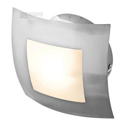 Access Lighting - Access Lighting Argon Contemporary Wall / Ceiling Light X-LPO/SB-24335 - This Argon contemporary semi-flush mount ceiling light/wall sconce by Access Lighting is a truly versatile piece. This lighting fixture, with it's opal glass shade and brushed steel hardware, is both a wall or ceiling fixture. The sleek and modern design makes it a fantastic addition to your home.