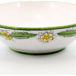 Artistica - Hand Made in Italy - Palma Verde: Serving Pasta Bowl - Palma Verde Collection
