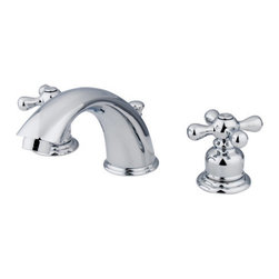 """Elements Of Design - Elements Of Design EB971X Chrome Victorian Double Handle 8"""" to 16"""" - Double Handle 8"""" to 16"""" Widespread Lavatory Faucet with Metal Cross Handles and Drain Assembly from the Victorian CollectionElements of Design s primary mission is to become the leading provider of cost effective, high quality products in the plumbing community. Their focus has made them grow by leaps and bounds in just a few years by identifying the key problems in manufacturing today and solving them. Elements of Design produces high quality products ranging from kitchen, bath, and lavatory faucets to accessories such as diverters, towel bars, robe hooks, supply lines, and miscellaneous parts. With our low price, amazing stock times and quality products, you can rest assured that when you order a Elements of Design product you will love every part of the experience, and it will last for generations to come.1/4 turn valvesWasherless cartridge1/2"""" -14 NPS inlets5-3/4"""" spout reach2-3/4"""" spout heightIncludes drain assemblyConstructed from solid brass for durability and reliabilityFinished with a premium color to resist tarnishing and corrosion"""