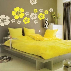 Design Packs - The Flower Wall Art Design can turn your plain room into something extraordinary in minutes!