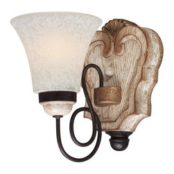 Minka-Lavery - Minka-Lavery Accents Provence 1 Light Bath - 1291-580 - This One Light Bathroom Sconce has a White Finish and is part of the Accents Provence Collection.