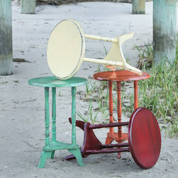 Plant Stand Tables - Our plant stands come in a variety of fun colors. When looking for a small table, they are a wonderful addition with an added pop of color.