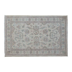 Sultanabad Oriental Rug, Hand Knotted 3'X5' Stone Wash Hand Knotted Rug SH11220 - Hand Knotted Oushak & Peshawar Rugs are highly demanded by interior designers.  They are known for their soft & subtle appearance.  They are composed of 100% hand spun wool as well as natural & vegetable dyes. The whole color concept of these rugs is earth tones.