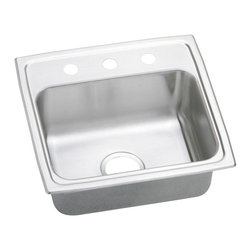 Elkay - Elkay Top Mount Three Hole Stainless Steel Kitchen Sink - This sink is manufactured from 20 gauge stainless steel and the underside of sink is fully protected by heavy duty Sound Guard undercoating to reduce condensation and dampen sound.