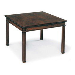 Fairfield Chair Company - Chippendale Style Square Lamp Table in Mahoga - Wood veneer top. 25.5 in. W x 25.5 in. D x 22.5 in. H