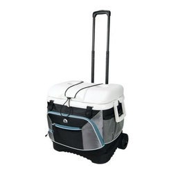Igloo MaxCold Cool Fusion 40 Cooler - If you have to park far from where your friends set up the tailgating party, you'll appreciate the convenience of this cooler on wheels.