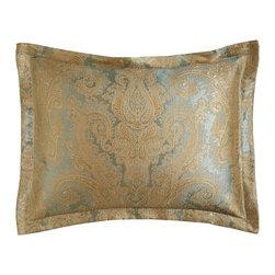 "Jane Wilner Designs - King Paisley Sham - BLUE (20"" X 36"") - Jane Wilner DesignsKing Paisley Sham"
