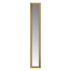 "Posters 2 Prints, LLC - 16"" x 76"" Arqadia Gold Traditional Custom Framed Mirror - 16"" x 76"" Custom Framed Mirror made by Posters 2 Prints. Standard glass with unrivaled selection of crafted mirror frames.  Protected with category II safety backing to keep glass fragments together should the mirror be accidentally broken.  Safe arrival guaranteed.  Made in the United States of America"