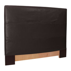 Howard Elliott - Black Faux Leather Slipcovered Headboard (King) - Choose Size: King
