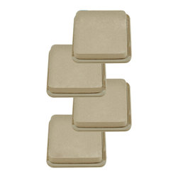 "EZ-Moves - EZ Moves Square Permanent Furniture Slides, 3""x 3"", Beige - Great for moving: Refrigerators, sofas, pianos, beds, bookcases, desks, etc. Permanent 3"" squares make frequent moves easy... even on thick carpet."