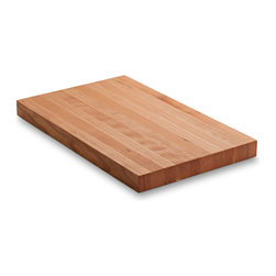 "Jewett Farms Co - Hardwood Cutting Board, Medium, Cherry - Our 10"" x 16"" cherry hardwood cutting boards are handmade by our cabinetmakers from the offcuts of cabinetry and furniture. The boards are made butcher block style creating strength and beauty. Our medium size board is an all purpose kitchen gem. From meat and vegetable prep to fruit platters and cheese boards this board will do it all."