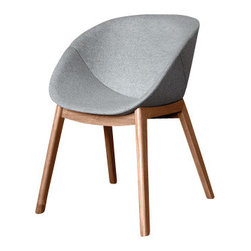 Domitalia - Domitalia Coquille/L Arm Chair in Walnut (Set of 2) - The Domitalia Coquille-L Armchair in Walnut leg finish is a brand new addition to Domitalias 2014 furniture collection. It features an ash wood frame with an integral polyurethane seat available in 5 modern color options or it can be upholstered in a choice of a wool fabric. The wood legs are in 2 different finish options - Oak and Walnut. The Coquille-L armchair is a great addition to any modern home with its vibrant colors, great comfort and its versatility as it can be used in your kitchen or dining room. This chair is also available with a swivel base and metal legs from our dining room section. Why not complement this ultra modern dining chair with a dining table from the fantastic dining table range from Domitalia. Sold in sets of 2.