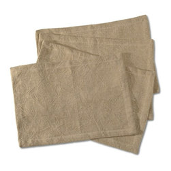 """Sarreid Ltd - Set of 4 Belgium Linen Placemats by BSEID - Never underestimate the power of neutral. These glorious Belgium linen placemats will suit any china or pottery dinnerware. Keep things neutral or add lots of colors. These mats will work with whatever you choose. (SAR) 20"""" wide x 14"""" high"""