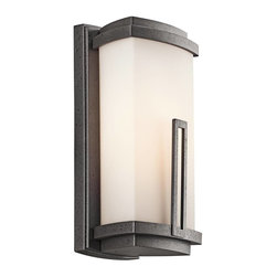 Kichler - Kichler Leeds Outdoor Wall Mount Light Fixture in Anvil Iron - Shown in picture: Outdoor Wall 1Lt in Anvil Iron