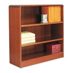 Alera - Alera BCR33636MC Aleradius Corner Wood Veneer Bookcase - Medium Cherry Multicolo - Shop for Bookcases from Hayneedle.com! About AleraWith the goal of meeting the needs of all offices -- big or small casual or serious -- Alera offers an excellent line of furnishings that you'll love to see Monday through Friday. Alera is committed to quality innovative design precision styling and premium ergonomics ensuring consistent satisfaction.