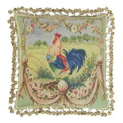 """EuroLux Home - New Aubusson Throw Pillow Square 20""""x20"""" - Product Details"""