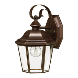 Hinkley Lighting - Hinkley Lighting 2420CB Clifton Park Traditional Outdoor Wall Sconce - Small - Clifton Park has an aristocratic style that adds a dignified air to a home's fa&#231:ade. The sleek Copper Bronze finish, durable solid brass construction and clear beveled and bound glass add to the genteel style.