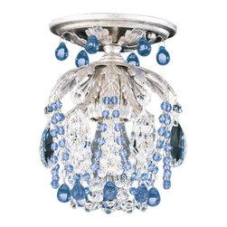 Schonbek Lighting - Schonbek Lighting 1250-48SP Rondelle Antique Silver Semi-Flush Mount - 1 Bulb, Bulb Type: 60 Watt Halogen; Product made-to-order, 6-8 week lead time
