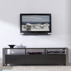 "B-Modern - Stylist 63"" High-Gloss Gray TV Stand - BM-110-GRY - Contemporary Design"