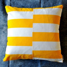 Modern Decorative Pillows Bar Graph Pillow