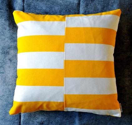 Modern Decorative Pillows Bar Graph Pillow