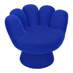 """Lumisource - Mitt Chair, Blue - 32"""" Diam. x 27.5"""" H"""