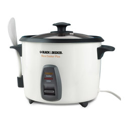 Applica - Black and Decker 16-Cup Multi Use Rice Cooker - Lid and spoon hanger. Detachable condensation catcher. Cook and warm indicator lights. Steamer basket. 120V-500 watts. Warranty: Two yearsGreat for entertaining friends and family! Its fast and simple. No more waiting by the pot for your favorite recipes to cook. Make great tasting rice, savory soups, stews and other one-pot dishes. When cooking is done, it automatically keeps it warm until you are ready to serve and entertain your party with dishes that will surely delight their plate.