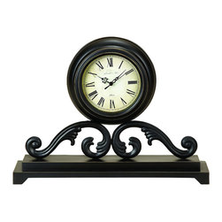 ecWorld - Infinity Table and Mantle Accent Clock - The handsome Infinity Table and Mantle Clock offers timeless charm, while keeping you on time. A great display item, free standing and features gorgeous Roman numerals - you'll love it!