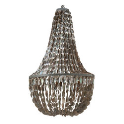 Kouboo - Manor Chandelier in Abalone Seashell, Natural - Holy mother of pearl, this brings iridescence to a whole new level! The lustrous abalone shell will bring the warmth of the beach to your home in this wondrous chandelier. Let the natural shimmer and shine light up any room with intoxicating beauty.