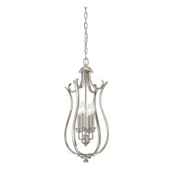 Savoy House - Savoy House Miscellaneous Foyer Pendant Light Fixture in Polished Nickel - Shown in picture: 4-Light Foyer in Polished Nickel Finish