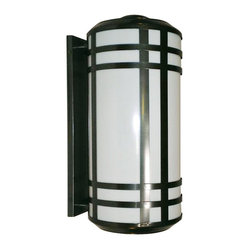 "Contemporary Opal Acrylic Energy Efficient 25 1/2"" H Outdoor Wall Light"