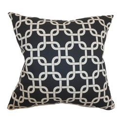 "The Pillow Collection - Qishn Geometric Pillow Black Linen 18"" x 18"" - This throw pillow is a gorgeous accent piece to add to your interiors. Bring a groovy pattern to your sofa, bed or chair with this eclectic square pillow. This 18"" pillow is made from 100% soft cotton fabric. This contemporary pillow features a black and white color combination. This accent pillow is ideal for various settings and decor styles. Hidden zipper closure for easy cover removal.  Knife edge finish on all four sides.  Reversible pillow with the same fabric on the back side.  Spot cleaning suggested."