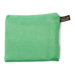 Yala® - Yala® Silk Pocket Pillowcase, Aloe Green - Handy for travel, Yala's roomy Pocket Pillowcase folds up neatly into a sewn-in pocket for easy packing. 100% silk comfort means you'll want to unpack it at home too. In many delicious colors, the Pocket Pillowcase also makes a great gift for a frequent flyer.
