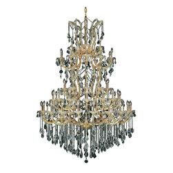 Elegant Lighting - Elegant Lighting 2800G54G/RC Maria Theresa Collection Large Hanging Fixture - Elegant Lighting 2800G54G/RC Maria Theresa Collection Large Hanging Fixture