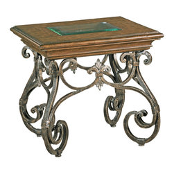 Ambella Home - Montego Square End Table - A small side table that packs a big punch. Beautiful iron work gives this piece oodles of old-world charm that you can layer into a rich, byzantine look. Stack some books on top or display a simple flower vase to complete your cozy corner.