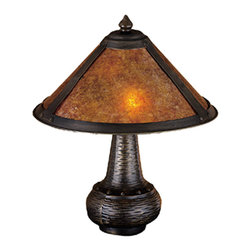 "Meyda - 14""H Van Erp Amber Mica Accent Lamp Table Lamps - Color Theme: Amber."