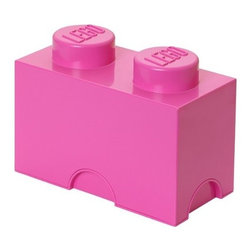 LEGO - LEGO FRIENDS Storage Brick 2, Medium Pink - Let children tidy up with a smile using our Lego Storage Brick 2 in medium pink that isn't simply a container - it's also a giant Lego brick that can be used to build oversized Lego creations. Lift off the top to reveal storage space for small toys, regular bricks and building accessories. So, decorate, play, build, form and have fun with the boxes.